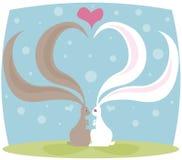 De Liefde van het konijntje Stock Foto