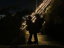 De liefde van het paar in Kerstmis Stock Foto