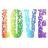 De liefde van het pixel Royalty-vrije Stock Afbeeldingen