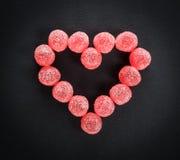 De Liefde van het suikergoedhart royalty-vrije stock foto
