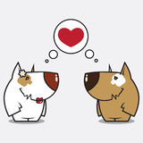 De liefde van honden Royalty-vrije Stock Fotografie