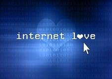 De liefde van Internet Stock Afbeelding