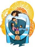 De liefde van Jesus mijn familie (vector) Royalty-vrije Stock Foto's