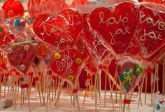 De liefde van suikerharten stock afbeeldingen
