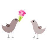 De liefde van vogels royalty-vrije illustratie