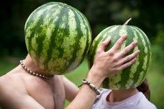 De liefde van watermeloenen Stock Fotografie