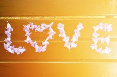 De liefde van Word Stock Foto