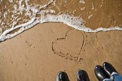 De liefde wist stock foto