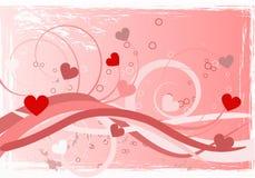 De liefdeabstractie van het hart royalty-vrije illustratie
