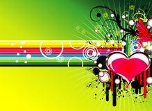 De liefdeachtergrond van de muziek