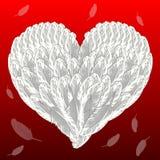 De liefdeachtergrond van de valentijnskaart Stock Fotografie