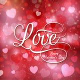 De liefdeachtergrond van de valentijnskaart Stock Afbeeldingen