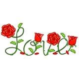 De Liefdebericht van de bloemwijnstok Stock Foto