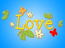 De liefdebloemen wijst Bloemblaadjes op Hartstocht en Toewijding vector illustratie