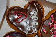De Liefdedoughnut stock afbeelding