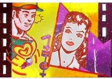 de liefdefilm van de valentijnskaartendag Stock Afbeeldingen