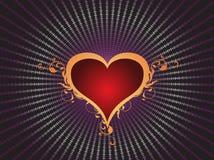 De liefdehart van de valentijnskaartendag Stock Foto