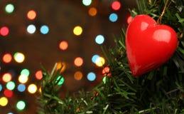 De liefdehart van Kerstmis Stock Afbeelding