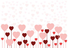 De liefdekaart of achtergrond van de valentijnskaart Stock Illustratie