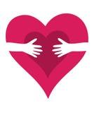 De liefdekaart van de Dag van de valentijnskaart Stock Afbeelding
