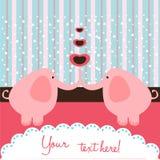 De liefdekaart van de olifant Stock Foto