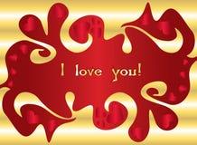 De liefdekaart van de valentijnskaart s Stock Foto