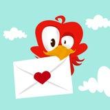 De liefdekaart van de vogel Stock Afbeeldingen