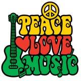 De Liefdemuziek van de Reggaevrede Stock Foto
