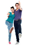 De liefdepaar dat van de tiener van geniet Stock Foto