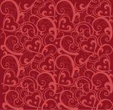 De liefdepatroon van de valentijnskaart stock illustratie