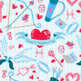 De liefdepatroon van de valentijnskaartendag Stock Afbeeldingen