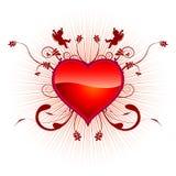 De liefdesymbool van het hart. Stock Afbeelding