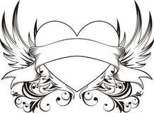 De liefdetatoegering van het hart Stock Foto's