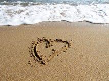 De liefdeteken van het hart Stock Afbeeldingen