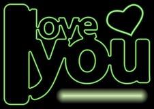 De liefdetekst van het neon Royalty-vrije Stock Foto