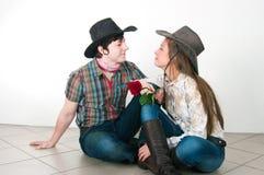 De liefdeverhaal van de cowboy Stock Afbeelding