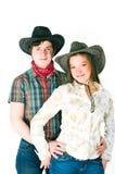 De liefdeverhaal van de cowboy Stock Foto