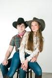 De liefdeverhaal van de cowboy Stock Foto's