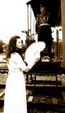 De liefdeverhaal van de trein Royalty-vrije Stock Foto