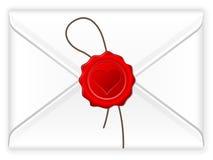 De liefdezegel van de envelop Stock Foto