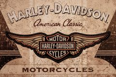 DE LIER, NETHERLANDS - NOVEMBER 1 2017: Harley Davidson American stock photo