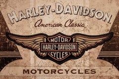 DE LIER, PAÍSES BAIXOS - 1º DE NOVEMBRO DE 2017: Harley Davidson American foto de stock