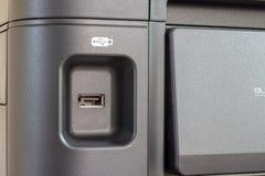 DE LIER, PAESI BASSI - 28 AGOSTO 2018: Chiuda su di una porta USB sopra immagine stock