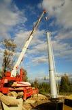 De lift en de kraan van de mast Stock Foto's