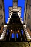 De Lift van Justa van de kerstman, Lissabon Royalty-vrije Stock Afbeelding