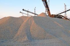 De liften en het zand stock foto's