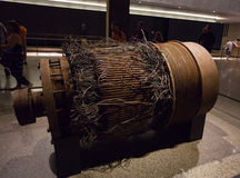 De liftkruk van de het noordentoren, Nationaal 11 September Herdenkings en M stock foto's
