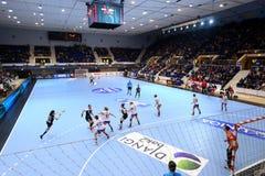 De Liga CSM BUCURESTI van Women'skampioenen versus FC MIDTJYLLAND Stock Foto's