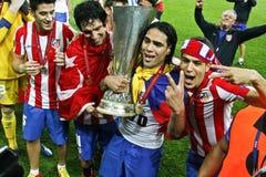 De Liga Definitief Boekarest 2012 van UEFA Europa Stock Foto's