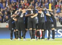 De Liga FC Brugge van de Equipefc Brugge Kampioen - Manchester United Royalty-vrije Stock Foto